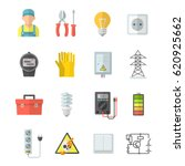 electricity vector icons.... | Shutterstock .eps vector #620925662