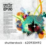 dancing people. poster for event | Shutterstock .eps vector #620930492