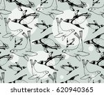 seamless pattern with hand... | Shutterstock .eps vector #620940365