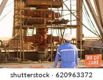 an engineer check the blowout... | Shutterstock . vector #620963372