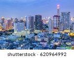 bangkok city skyline aerial...   Shutterstock . vector #620964992
