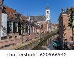 elleboogkerk church at a canal... | Shutterstock . vector #620966942
