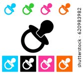 vector baby soother icon | Shutterstock .eps vector #620983982