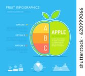 fruit infographic design with... | Shutterstock .eps vector #620999066