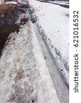spring dirty road | Shutterstock . vector #621016532