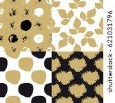cute art seamless pattern set... | Shutterstock .eps vector #621031796
