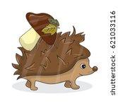 vector cartoon image of a cute... | Shutterstock .eps vector #621033116