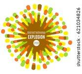 modern colorful flat sun. fun... | Shutterstock .eps vector #621034826