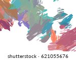 brushed painted abstract... | Shutterstock . vector #621055676
