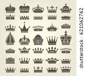 crown icons set   monarchy... | Shutterstock .eps vector #621062762