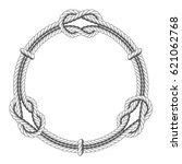 twisted rope circle   round... | Shutterstock .eps vector #621062768