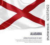 flag of u.s. state alabama... | Shutterstock . vector #621072422