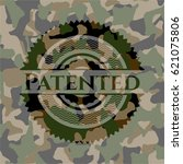 patented camouflaged emblem | Shutterstock .eps vector #621075806