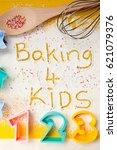 baking 4 kids with sprinkles  ... | Shutterstock . vector #621079376