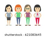 business dressed and casual... | Shutterstock .eps vector #621083645