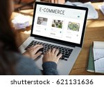 e commerce online shopping... | Shutterstock . vector #621131636
