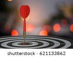 target dart with arrow over... | Shutterstock . vector #621133862