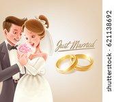 romantic illustration with... | Shutterstock .eps vector #621138692