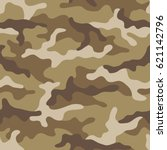 seamless camouflage pattern.... | Shutterstock .eps vector #621142796