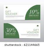gift voucher template for spa ... | Shutterstock .eps vector #621144665