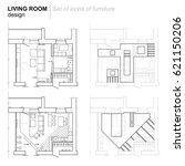 the architectural plan. the... | Shutterstock .eps vector #621150206