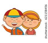 cute little kids character | Shutterstock .eps vector #621158456