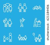 father icons set. set of 9... | Shutterstock .eps vector #621184406