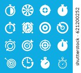 accurate icons set. set of 16... | Shutterstock .eps vector #621200252