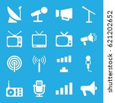 broadcast icons set. set of 16... | Shutterstock .eps vector #621202652