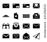 mail icons set. set of 16 mail...   Shutterstock .eps vector #621206522