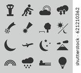 Sky Icons Set. Set Of 16 Sky...