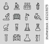 lab icons set. set of 16 lab... | Shutterstock .eps vector #621215075