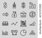 finance icons set. set of 16... | Shutterstock .eps vector #621215282