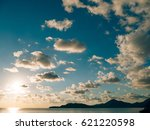 sunset over the sea. sunset... | Shutterstock . vector #621220598