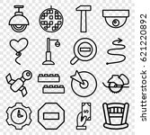 flat icons set. set of 16 flat... | Shutterstock .eps vector #621220892
