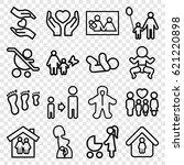 family icons set. set of 16... | Shutterstock .eps vector #621220898
