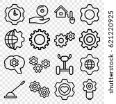 gear icons set. set of 16 gear... | Shutterstock .eps vector #621220925