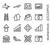 up icons set. set of 16 up... | Shutterstock .eps vector #621224915