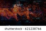 3d rendering digital matrix...   Shutterstock . vector #621238766