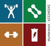 bodybuilding icons set. set of... | Shutterstock .eps vector #621240242