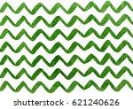 watercolor green hand painted... | Shutterstock . vector #621240626