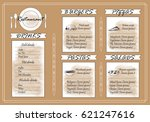 placemat design template vector ... | Shutterstock .eps vector #621247616