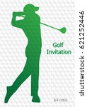 golf tournament invitation... | Shutterstock .eps vector #621252446