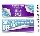 layout of marketing banners.... | Shutterstock .eps vector #621252776