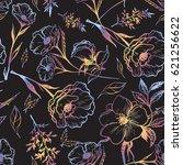 art vintage graphic floral... | Shutterstock .eps vector #621256622