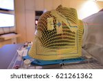 patient radiation therapy mask... | Shutterstock . vector #621261362