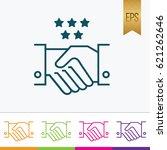 handshake icon outline style...   Shutterstock .eps vector #621262646