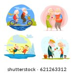 collection of old cute loving... | Shutterstock . vector #621263312