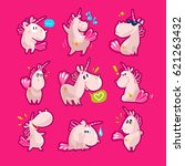 vector collection of flat funny ...   Shutterstock .eps vector #621263432