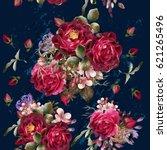 beautiful pattern in vintage... | Shutterstock .eps vector #621265496